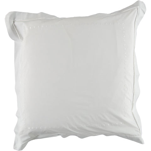 White dot embroidered square pillowcase