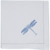 Blue dragonfly embroidered napkin