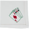 playing cards embroidered napkin