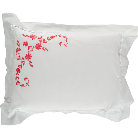 Coral Floral Baby Pillowcase