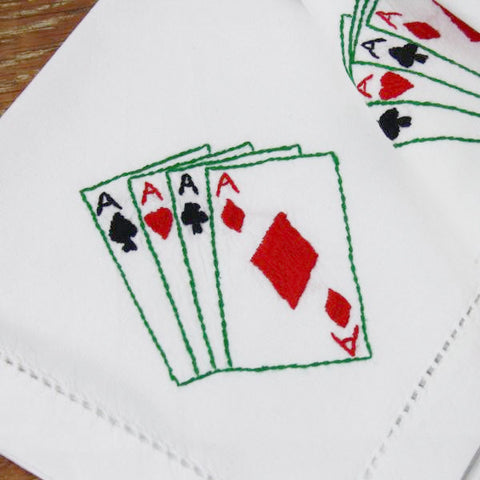 Bridge cards tablecloth