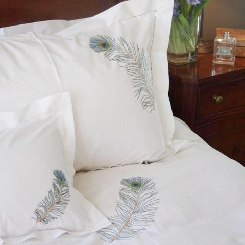 Peacock Feather Pillowcase