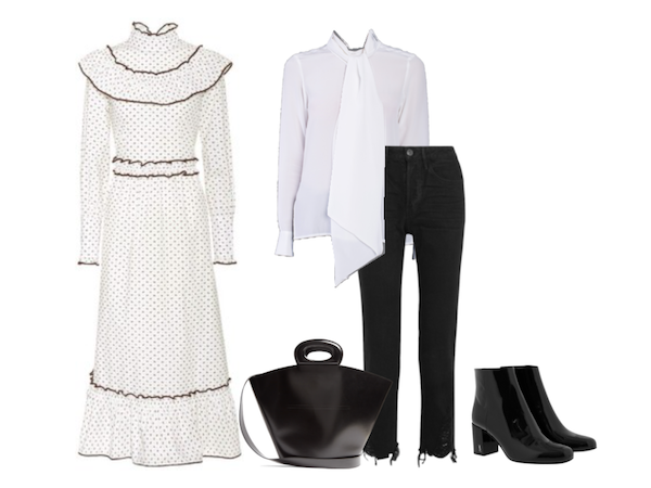 White shirt Wednesday: styled with a Ganni frock dress