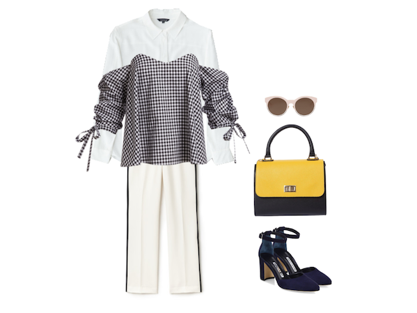 White shirt Wednesday: innocent gingham