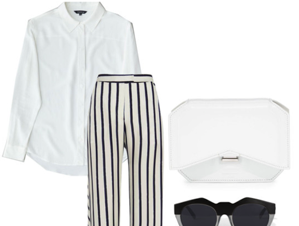 White shirt Wednesday: minimalist chic