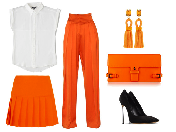 White shirt Wednesday: tangerine dreams