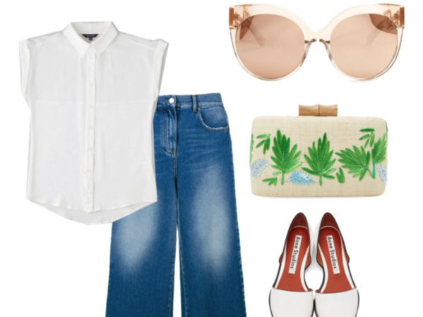 White shirt Wednesday: directional denim