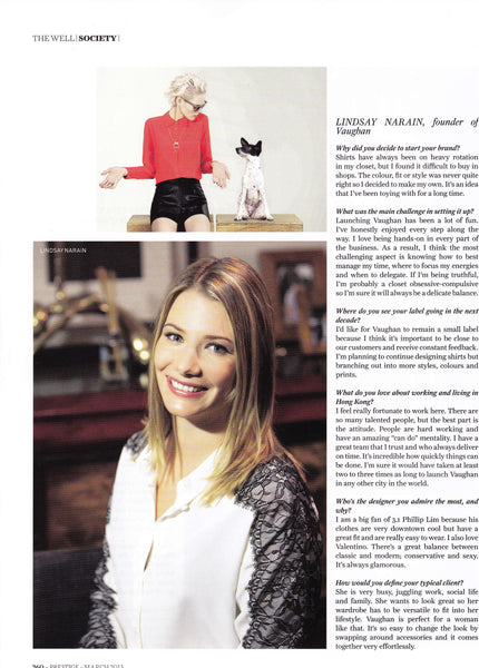 lindsay narain of vaughan in prestige magazine