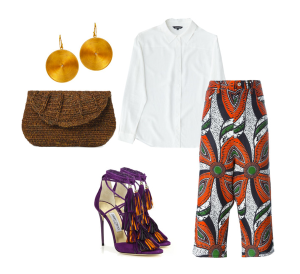 africa prints styled with classic silk separates