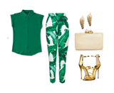 tropical trousers and silk tops