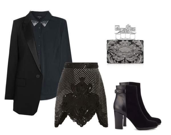 winter fashion: vicotian goth styled with classic silk shirts
