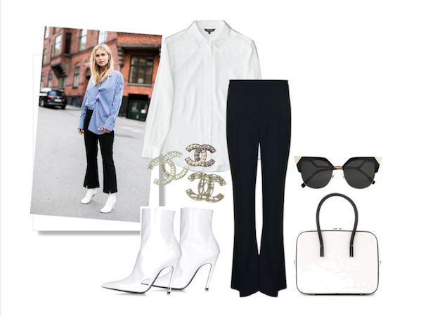 Fashion week street style inspiration white silk shirt