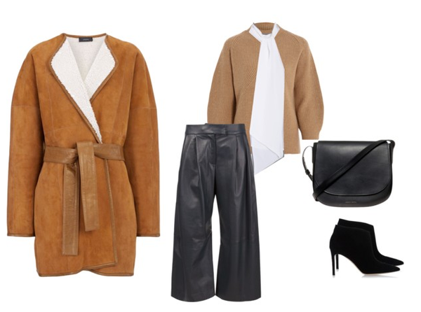 shearling and silk winter fashion