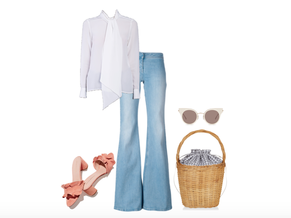 silk shirt styled for a summer picnic