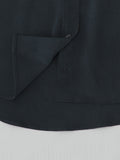 black silk cocktail blouse hem detail