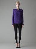 purple silk classic silk shirt