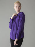 rich purple silk shirt