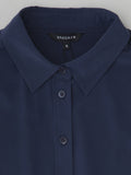navy blouse collar detail