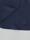 navy silk shirt hem detail