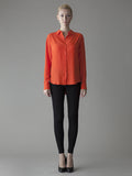 orange silk work shirt