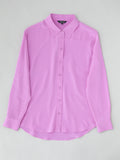 orchid pink silk shirt flatly