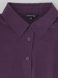 plum silk shirt collar detail