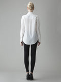 long sleeve white silk shirt back view