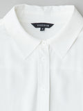 collar detail of vaughan classic white silk shirt