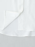 white shirt placket and hem detail