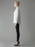 white silk work shirt side view