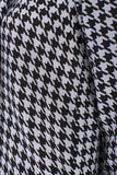 silk shirt houndstooth print detail