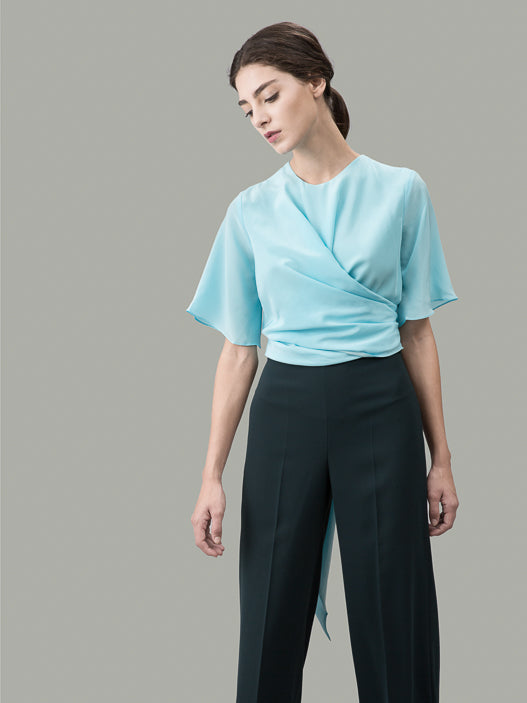 The Martha silk wrap shirt: Appalachian Spring