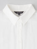 white silk shirt collar detail