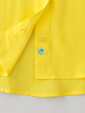 bumble bee detail women's silk shirt