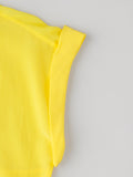 women's yellow silk shirt sleeve cuff