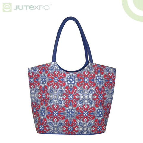 Printed Shopper - Jaipur Blue