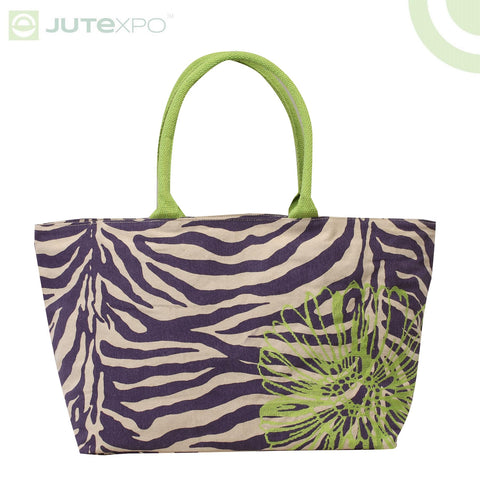Printed Shopper - Jordan Purple
