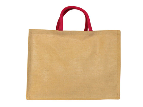 Large Juco Shopper with Pink Handles