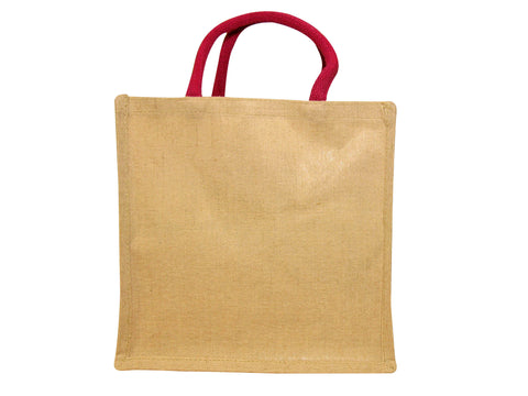 Medium Juco Shopper with Pink Handles