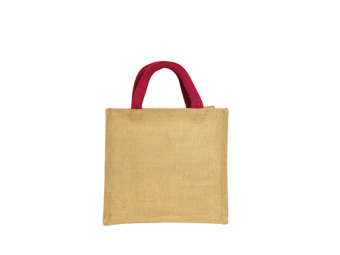 Small Juco Shopper with Pink Handles