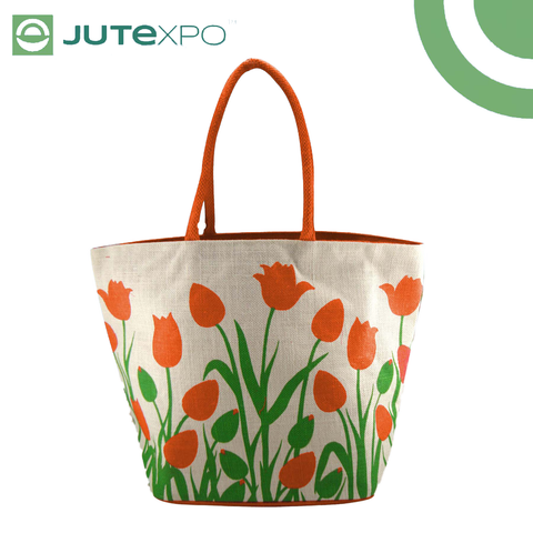 Printed Shopper - Tulip Orange