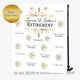 Gold Embroidery Theme Retirement Party Step and Repeat Backdrop