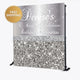 50th Birthday Silver Glitter and Glam Custom Step and Repeat Backdrop