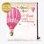 Hot Air Balloon Adventure Baby Shower Step and Repeat Backdrop Banner