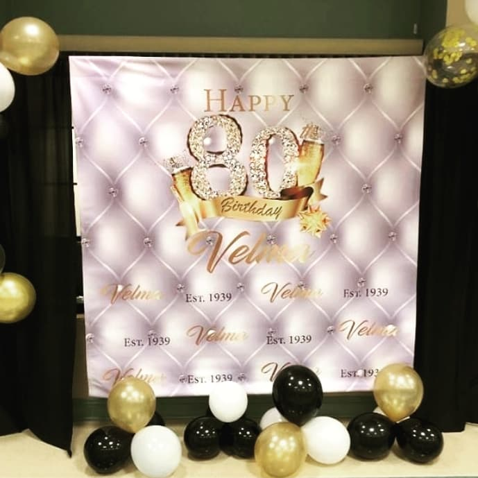 Tufted Backdrop Birthday Backdrop Photo Props Royal Blue backdrop 50th Birthday Step and Repeat Photo Booth Step and Repeat Backdrop