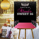 Sweet 16 Birthday Canvas sign guest book with pink carpet