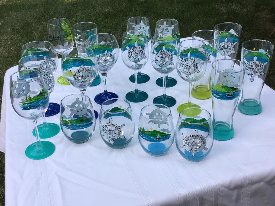 Custom Designs - Hand Painted Glassware
