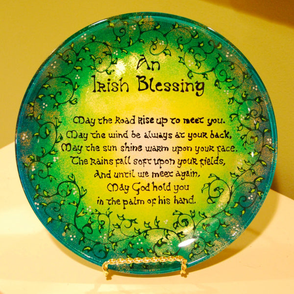Irish Blessing Hand Painted Decorative Plate