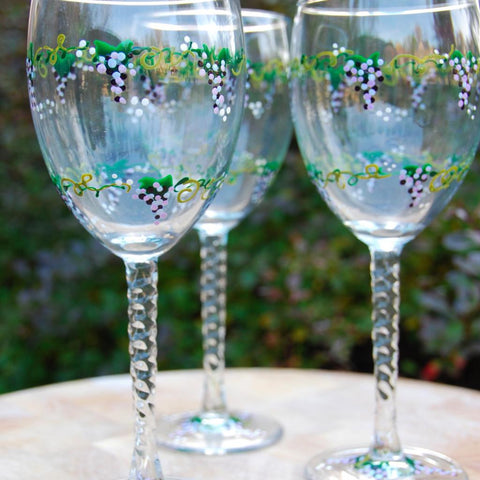 88dc21f1549 Hand painted wine glasses and gifts – Glorious Goblets