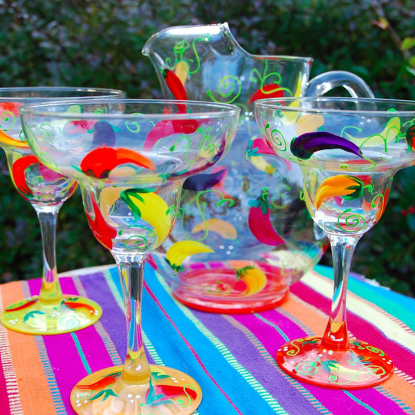 Margarita Hand Painted Glassware